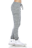 "Trendy 2-Tone ""Love"" Terry Webbing Jogger Pants - Fashion Sense - 3"