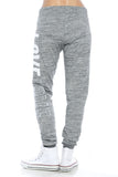 "Trendy 2-Tone ""Love"" Terry Webbing Jogger Pants - Fashion Sense - 4"