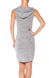 Hoodie Sleeveless Dress - Fashion Sense - 2