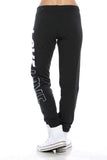 "Trendy 2-Tone ""Love"" Terry Webbing Jogger Pants - Fashion Sense - 13"