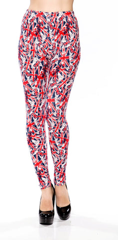 British Flags Printed Long Legging Yoga/Gym Pants - Fashion Sense - 1