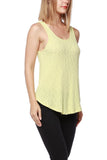 Yellow Ribbed Open Back Tank Top - Fashion Sense - 2