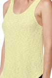 Yellow Ribbed Open Back Tank Top - Fashion Sense - 5