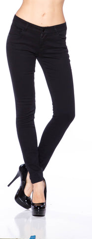 Juniors Cotton Twill Skinny Jeans - Fashion Sense - 1