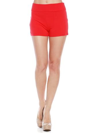 Hot Fold Over Yoga Shorts - Fashion Sense - 1