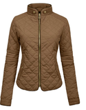 Quilted  Zip Jacket - Fashion Sense - 3