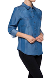 Tencel Denim shirt - Fashion Sense - 1