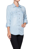 Tencel Denim shirt - Fashion Sense - 3