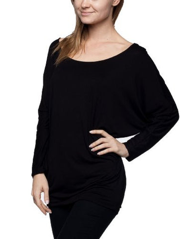 Womens Rayon Jersey Dolman 3/4 Slv Top - Fashion Sense - 1