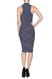 Bodycon Sweater Knit Stripes Dress - Fashion Sense - 5
