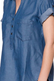 Denim Short Sleeves Shirt - Fashion Sense - 6