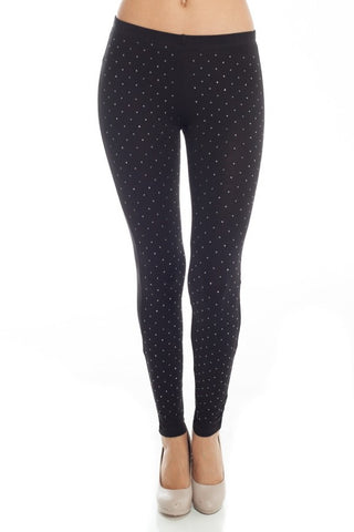 All Over Mini Stud Leggings - Fashion Sense - 1