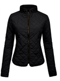 Quilted  Zip Jacket - Fashion Sense - 1