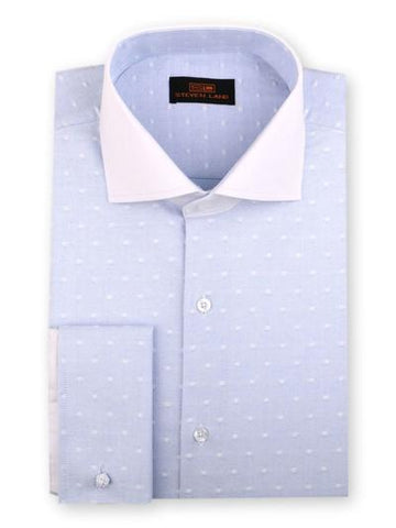 DRESS SHIRT | DC1931 | CLASSIC FIT |  100% COTTON  | WIDE SPREAD COLLAR | FRENCH SQUARE CUFF | BLUE