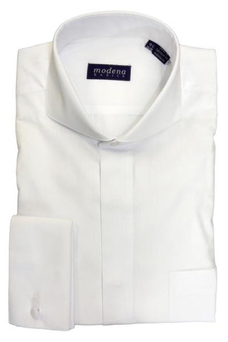 White Cutaway Collar Dress Shirt