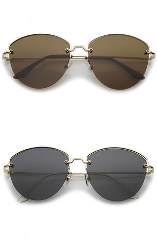 Over Sizes Shield Aviator