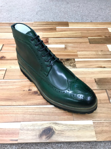 Emilio Franco Green Leather Lace-up