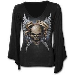 V Neck Goth Sleeve Top Full Throttle