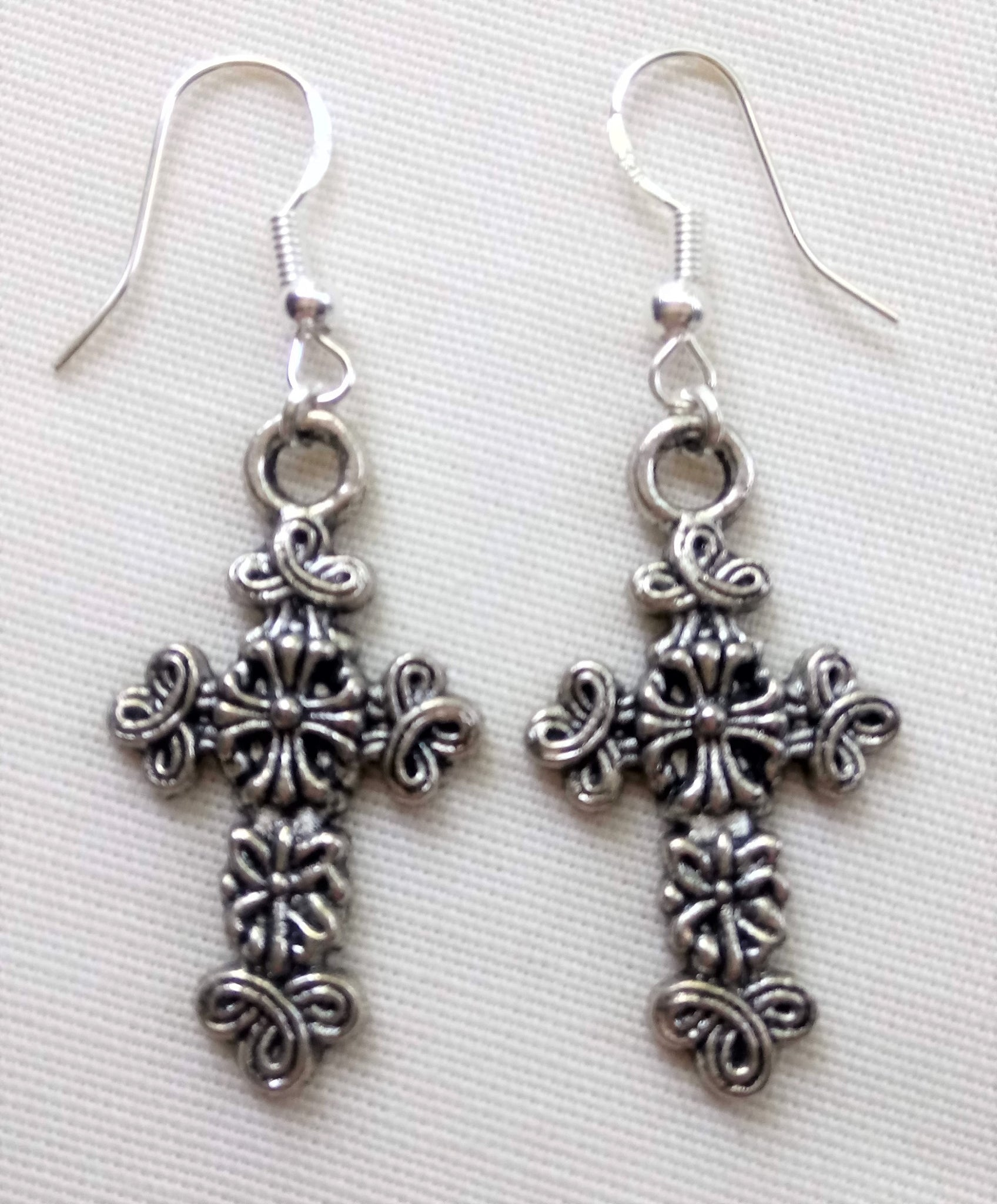 Ornate Cross Earrings