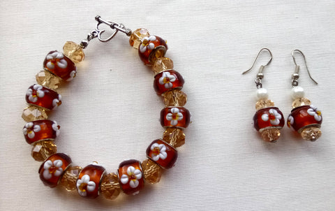 Bracelet & Earring Gift Set - Autumn