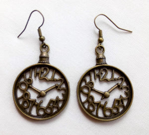 Clock Earrings