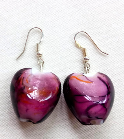Earrings - Purple Murano