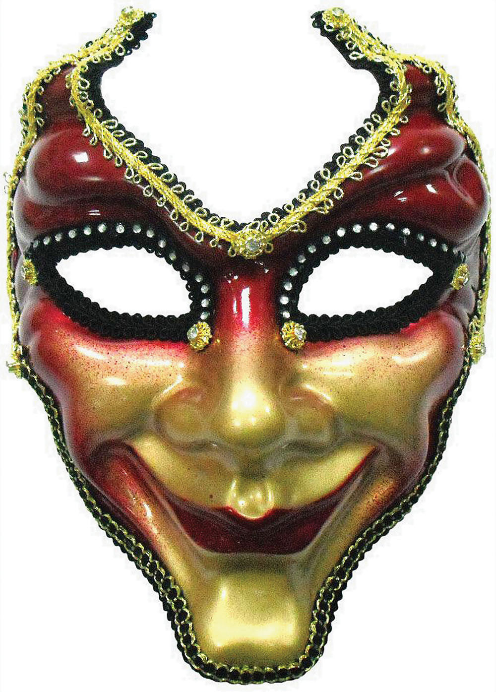 Masquerade Mask - Red & Gold