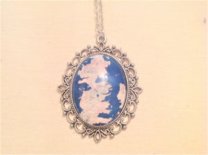 Game of Thrones Inspired Map Cameo Necklace