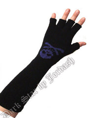 Gloves Skull & Bones - Fingerless Long
