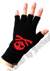 Gloves Skull & Bones - Fingerless