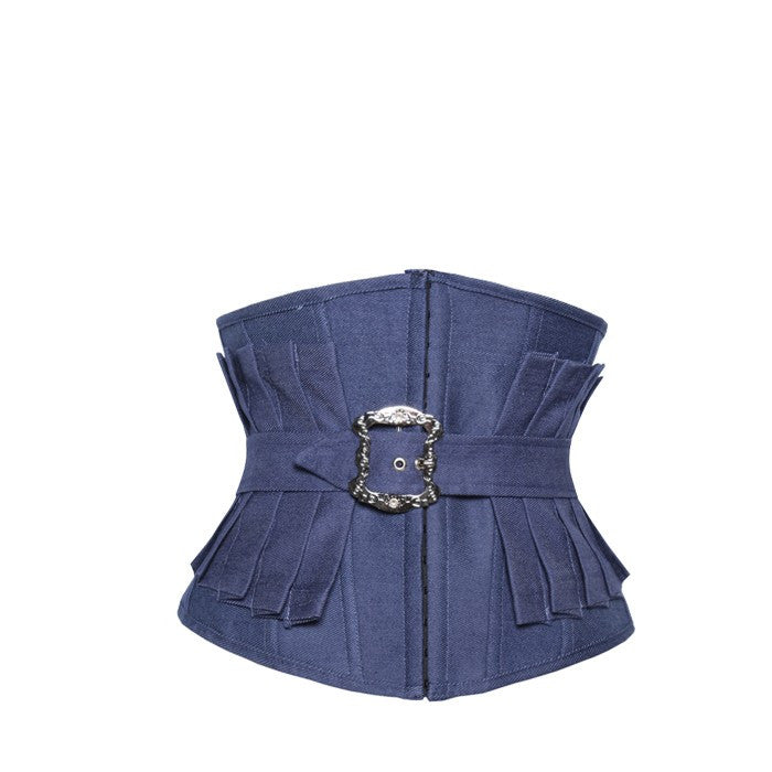 Fashion Waist Cincher Blue Denim - Underbust