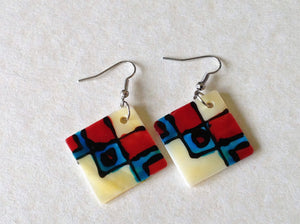 Shell Earrings - Abstract Design