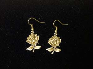 Earrings - Bronze Roses