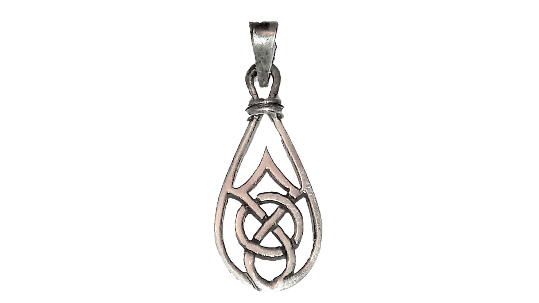 Celtic Drop Pendant - Sterling Silver
