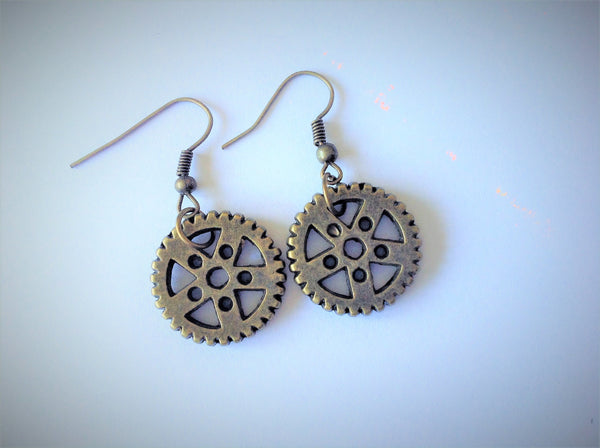 Cogs Earrings - Steampunk