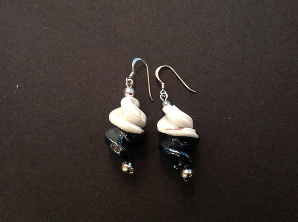 Earrings Glass Twist
