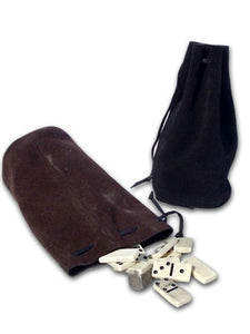 Leather Pouch - Drawstring