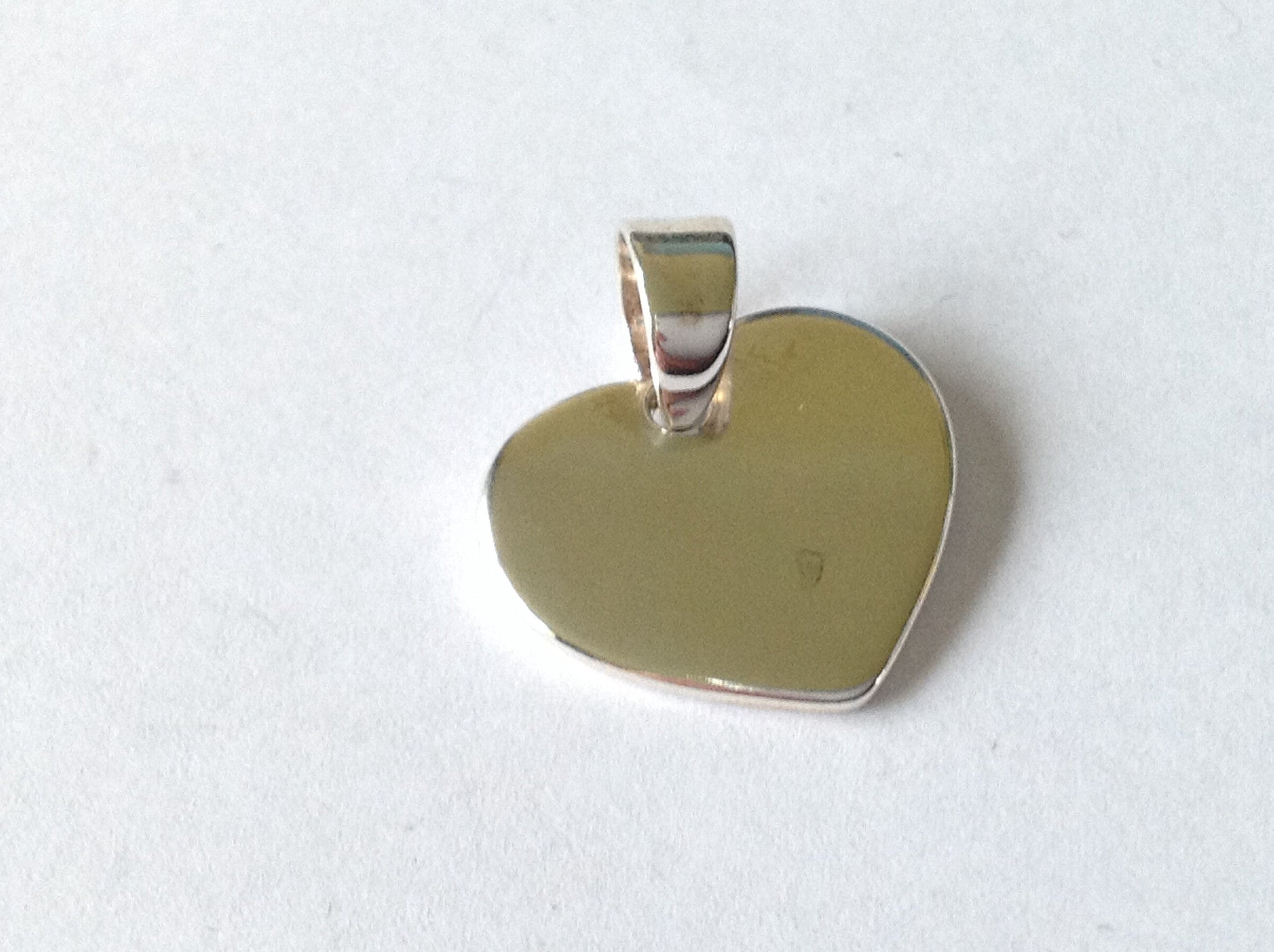 Simple Heart Pendant - Sterling Silver