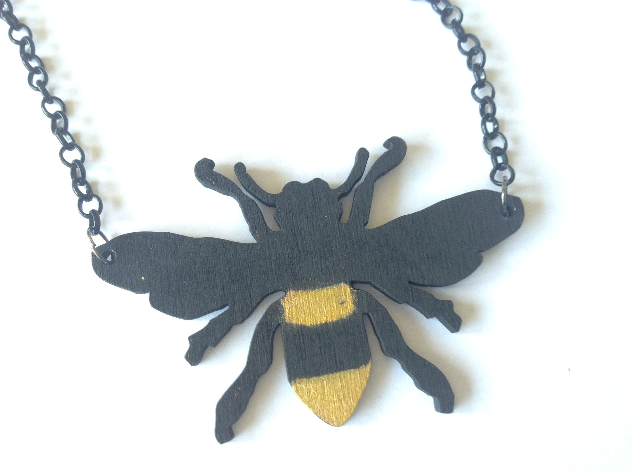 Striped Bee Necklace