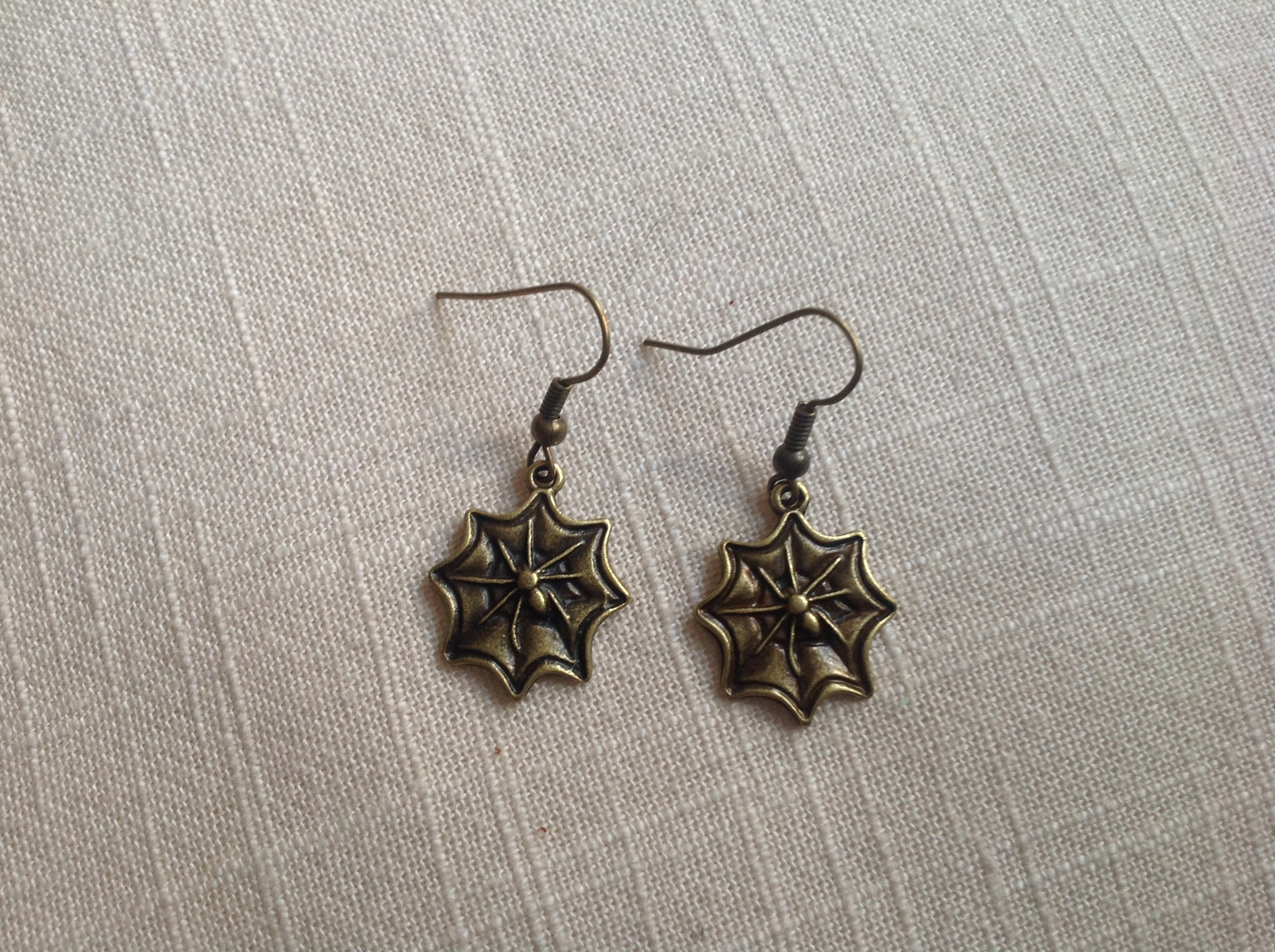 Earrings - Bronze Web