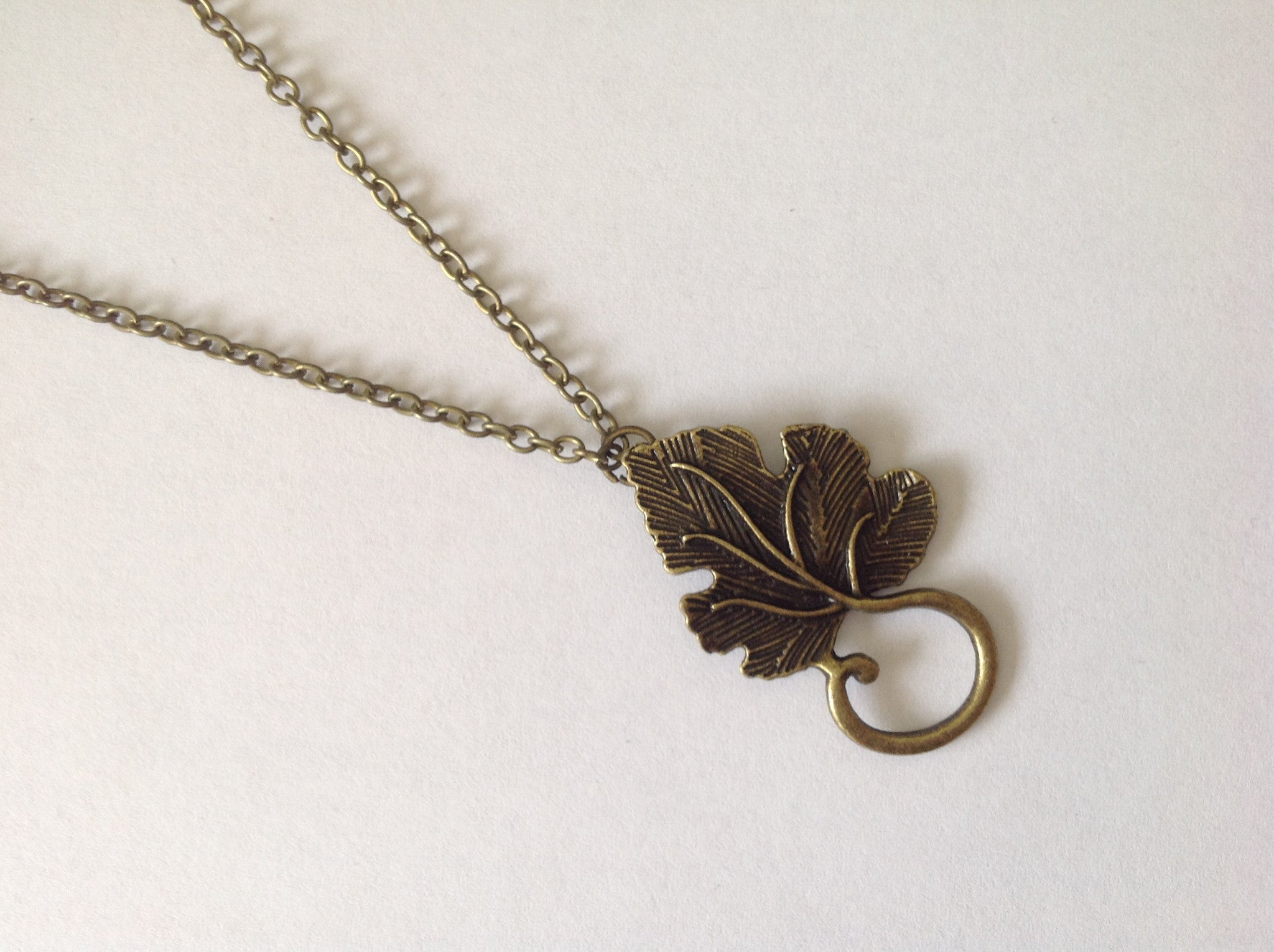 Necklace - Bronze Leaf