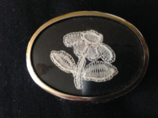Victorian Lace Brooch