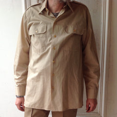 Shirt Long Sleeved Khaki
