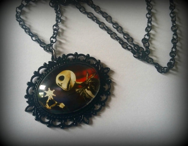 Nightmare Before Christmas Inspired Cameo Necklace - Jack