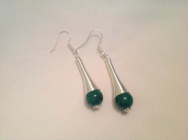 Tibetan Silver & Gemstone Earrings