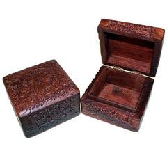 Wooden Carved Box Square