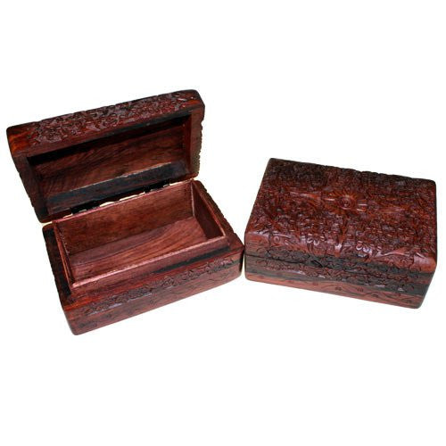 Wooden Carved Box Rectangular