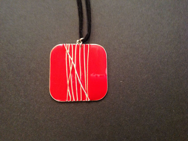 Red Square Necklace