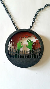 Zombie Outbreak Layered Pendant Necklace