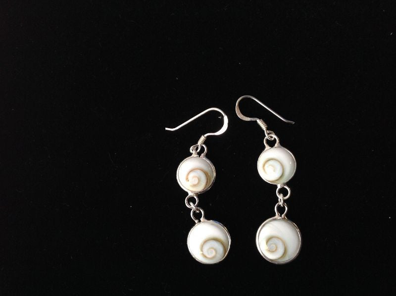 Shiva Shell Earrings - Sterling Silver
